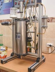 Лабораторная установка синтеза ценных химических веществ из углеводсодержащего сырья отходов сельскохозяйственного производства